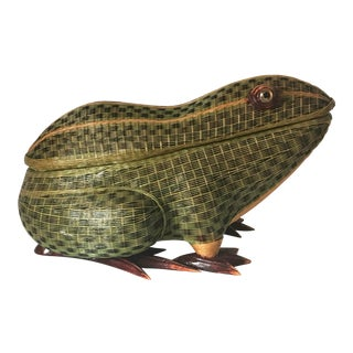 Wicker Frog Box For Sale