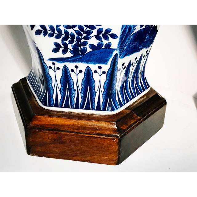 Frederick Cooper Blue and White Ginger Jar Table Lamps - Pair For Sale In Chicago - Image 6 of 10