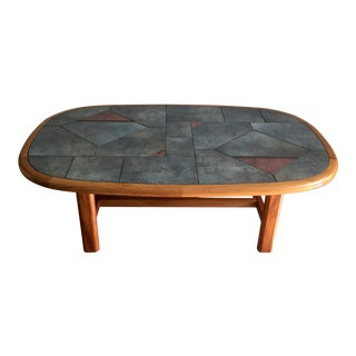 1980s Scandinavian Modern Gangso Mobler Tile Topped Coffee Table For Sale