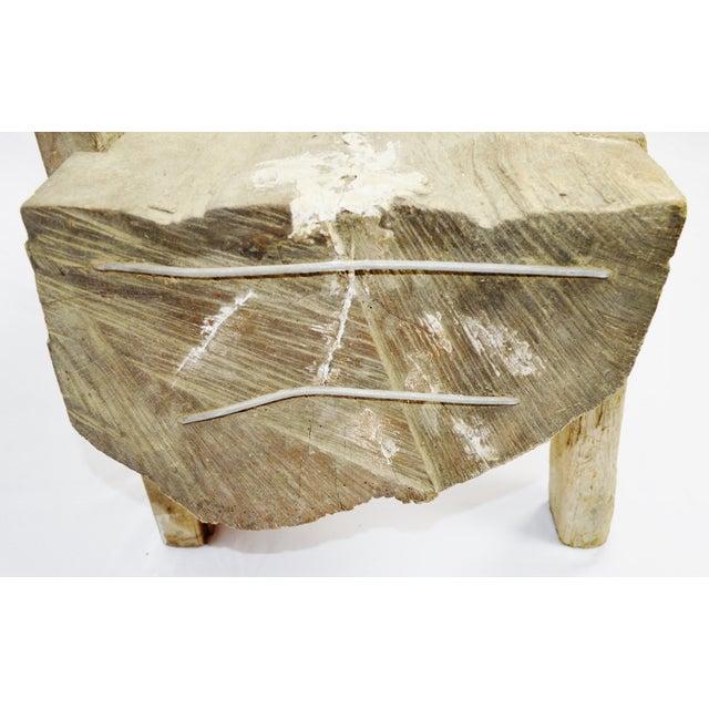 "Antique Primitive ""Petrified"" Wood Log Bench For Sale In Philadelphia - Image 6 of 13"