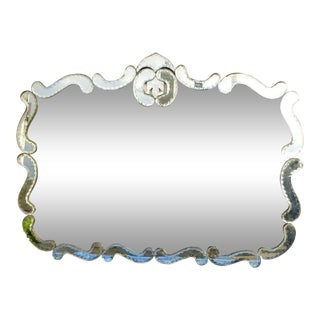 1940's Hollywood Regency Wall Mirror For Sale