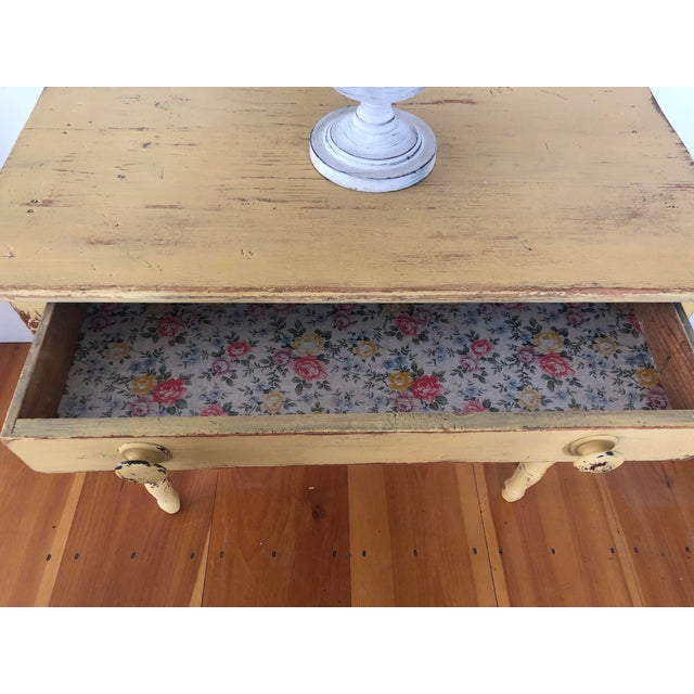 Antique Distresses French Style Farm Table For Sale In Providence - Image 6 of 11