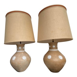 Mid-Century Italian Ugo Zaccagnini Lamps - a Pair For Sale