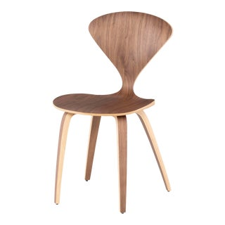 Satine Dining Chair In Walnut For Sale