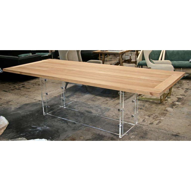 """This is a one of a kind Italian designed table with Plexi and stainless base called the """"Spirit"""" table. Would make a..."""