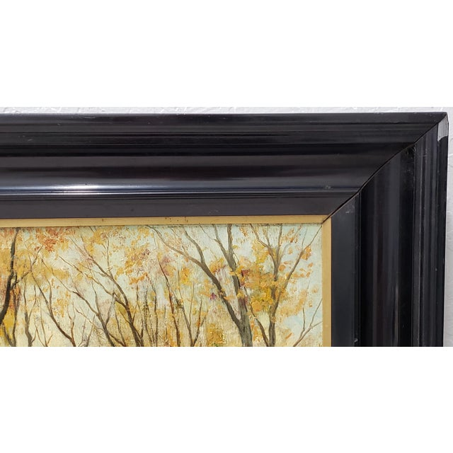 Impressionism Late 19th Century Lumious Forest Landscape Oil Painting by Hm Savry For Sale - Image 3 of 10
