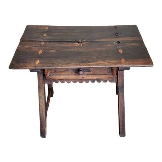 Rustic 18th Century Spanish Baroque Period Low Table For Sale