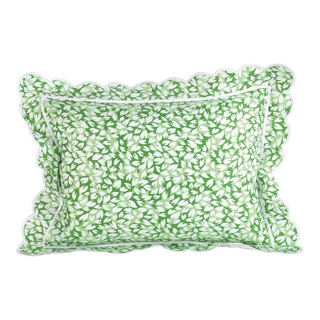 Petals Sham in Green in Standard For Sale
