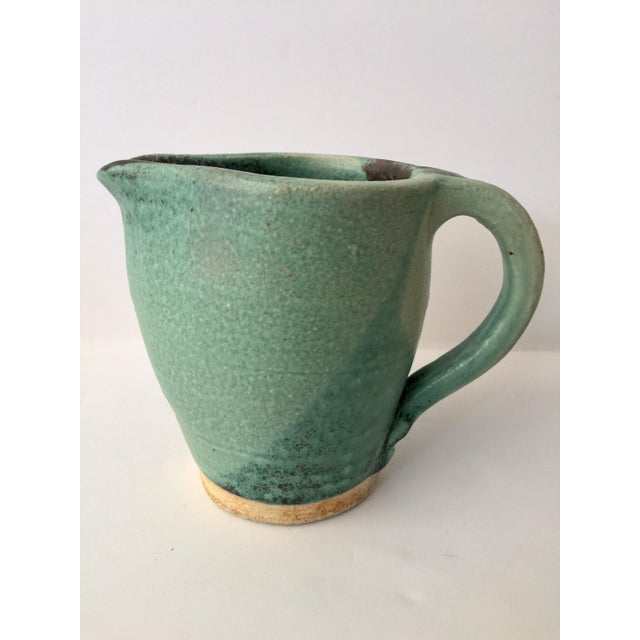 Vintage Green Ceramic Pitcher - Image 3 of 4