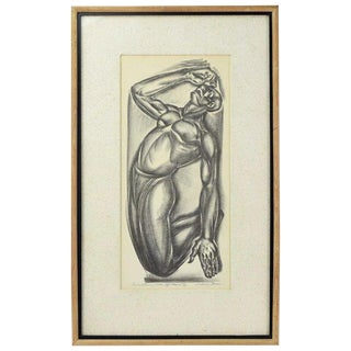 """1940s Vintage """"Not a Spiritual"""" Social Realism Lithograph by Iver Rose For Sale"""
