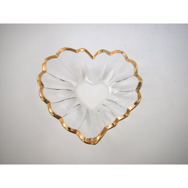Glass and Gold Heart Dish - Image 2 of 9