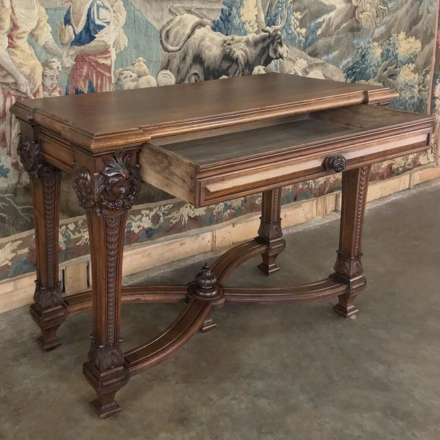 French 19th Century French Louis XIV Walnut Console For Sale - Image 3 of 13