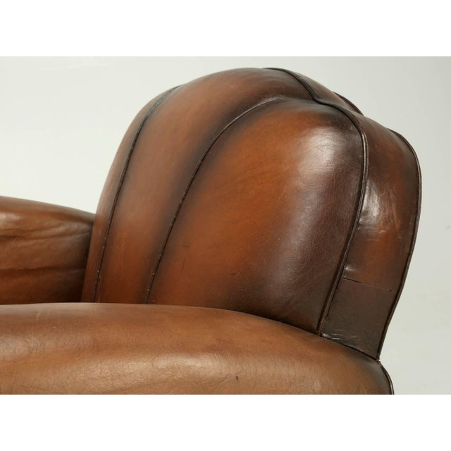 Art Deco French Art Deco Original Cloud Back Style Club Chairs in Incredible Condition For Sale - Image 3 of 10