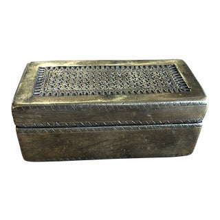 Early 19th Century Antique Brass Box For Sale