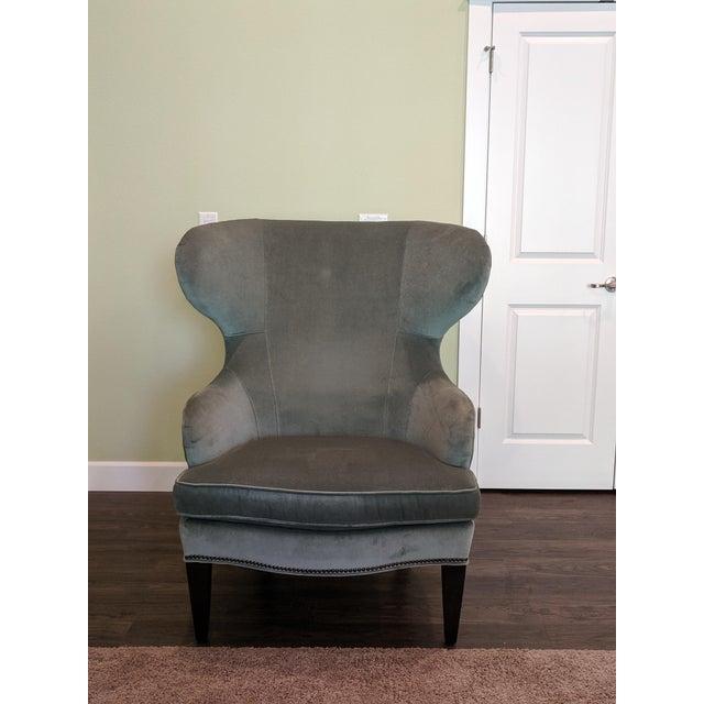Awe Inspiring Modern Ethan Allen Contemporary Curves Rand Wing Chair Short Links Chair Design For Home Short Linksinfo