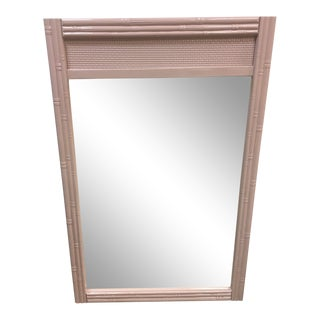 Lacquered Faux Bamboo Mirrors - a Pair For Sale
