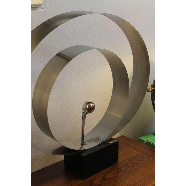 Late 20th Century David Wolfe Steel Circular Sculpture For Sale - Image 5 of 8