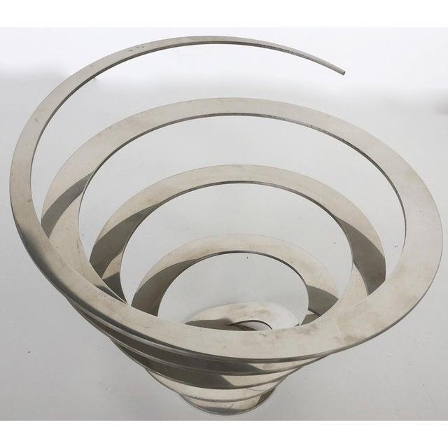 Danish Modern Steel Swirl Fruit Bowl / Centerpiece - Image 6 of 6
