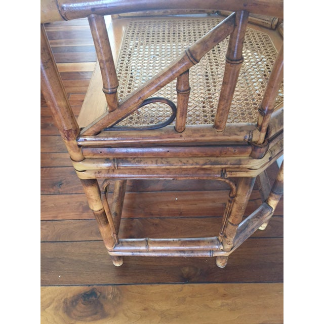 Vintage Bamboo Chinoiserie Accent Chair For Sale In Los Angeles - Image 6 of 11