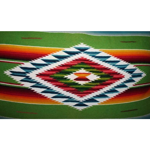 1950s Pair of Monumental Serape Bolster Pillows For Sale - Image 5 of 9