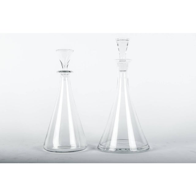 Glass Vintage Baccarat Crystal Decanter Set - a Pair For Sale - Image 7 of 10