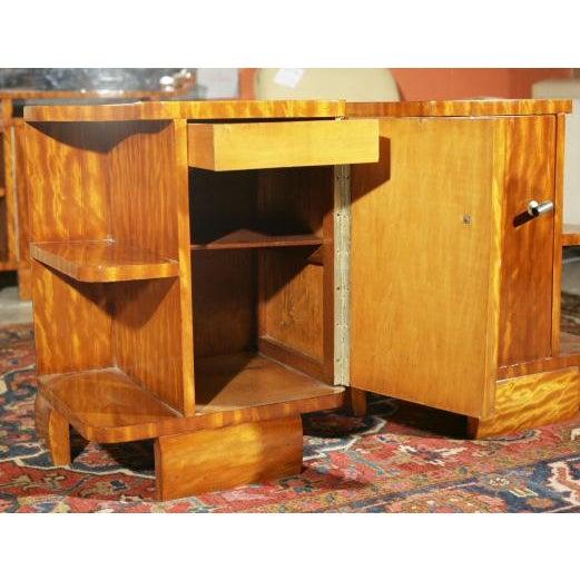 Art Deco Burl Wood Nightstands - A Pair - Image 5 of 8