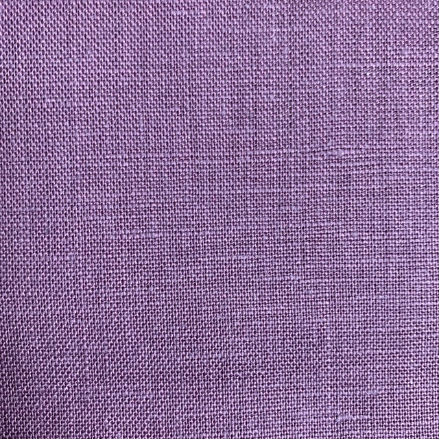 Designer 100% Linen Aubergine Purple Fabric For Sale