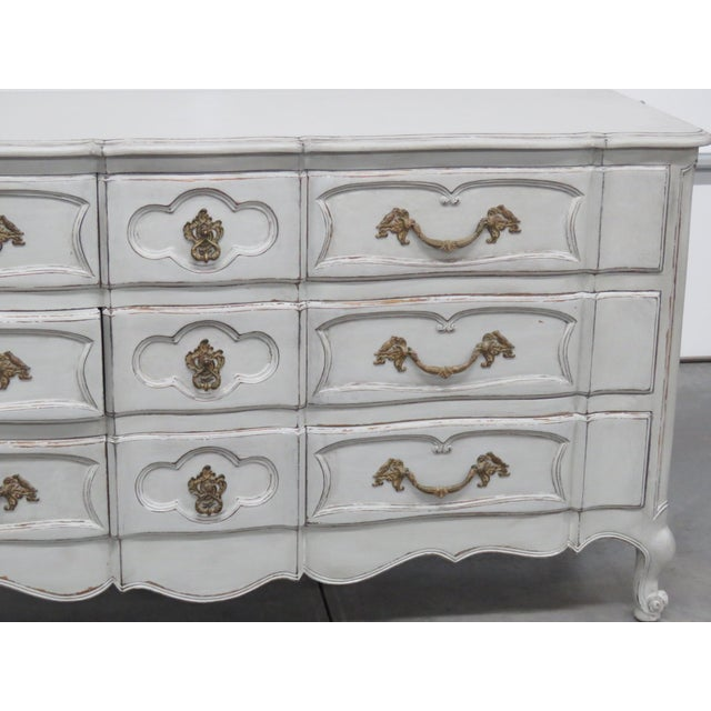 French Country 20th Century French Country Painted Decorated Dresser For Sale - Image 3 of 10