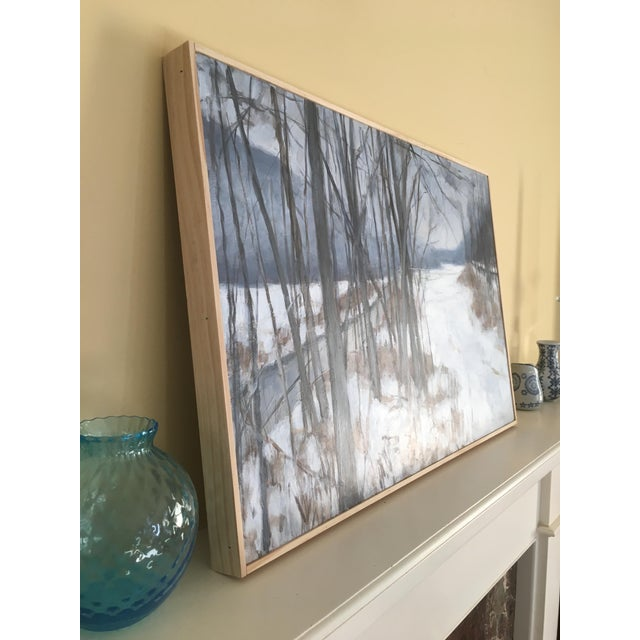"Wood Stephen Remick ""River, Road, Field, Mountain"" Contemporary Landscape Painting For Sale - Image 7 of 10"