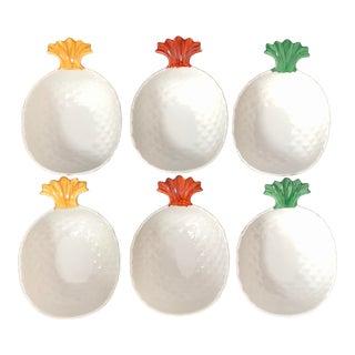 Laure Japy Paris Limoges France Pineapple Bowls- Set of 6 For Sale