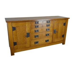 Stickley Mission Collection Oak Syracuse Sideboard For Sale