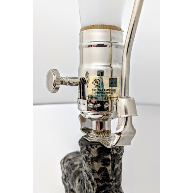 Black Arteriors Home Packard Cast Iron Table Lamp For Sale - Image 8 of 12