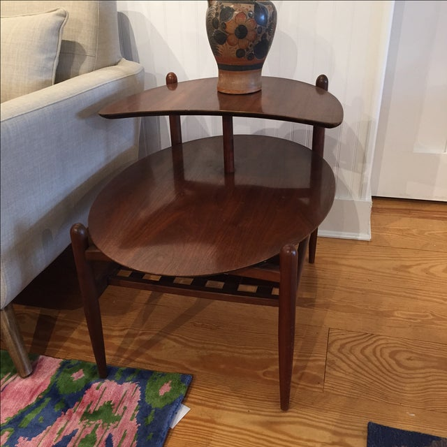 Lane Walnut Side Tables - Pair - Image 2 of 6
