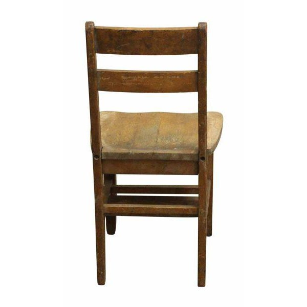 Small Wooden School Chair For Sale - Image 5 of 5