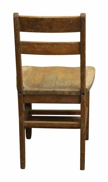 Small Wooden School Chair For Sale - Image 5 of 5  sc 1 st  Chairish & Small Wooden School Chair   Chairish
