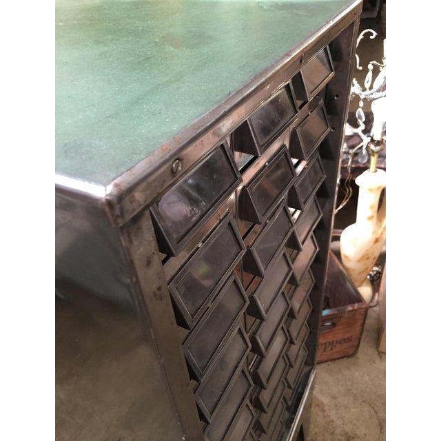 Vintage Mid-Century Metal Library Cabinet For Sale In Sacramento - Image 6 of 11