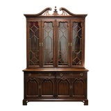 Image of Thomasville Cherry Chippendale Style China Display Cabinet For Sale