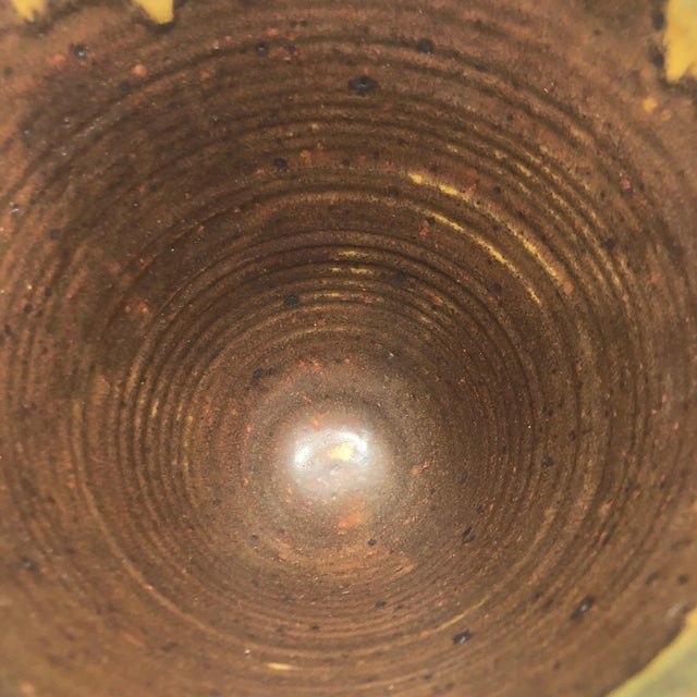 Ceramic Late 20th Century Vintage Glazed Studio Pottery Vase For Sale - Image 7 of 13