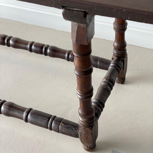 19th Century Extended Dark Italian Console For Sale - Image 4 of 9