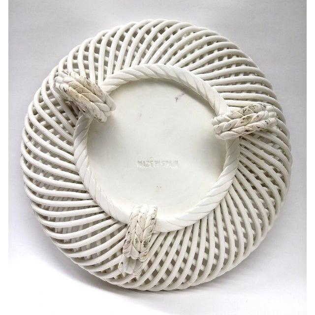 Spanish Lattice Weave Ceramic Dish - Image 10 of 11