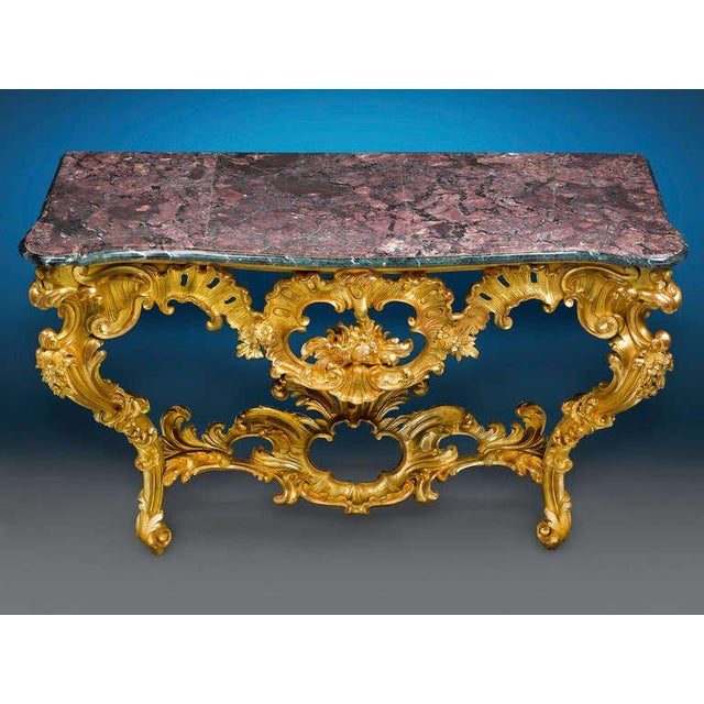 Louis XV Louis XV Period Console Table For Sale - Image 3 of 5