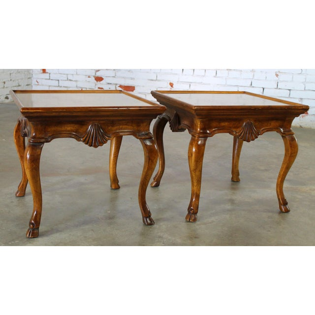 Vintage Brittiany for Heritage Hooved Side Tables - a Pair For Sale - Image 6 of 11