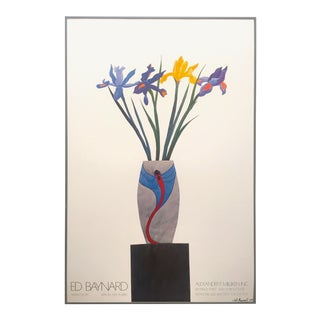 Ed Baynard Vintage 1980 Limited Edition Modernist Lithograph Print Framed Exhibition Poster For Sale