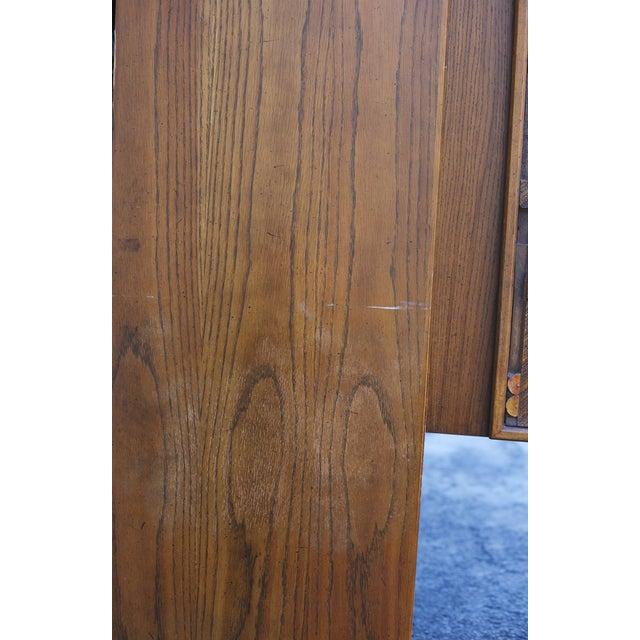 "Lane ""Pueblo"" Brutalist Armoire/Dresser - Image 6 of 10"