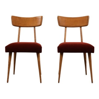 Pair of Danish Modern Side Chairs For Sale