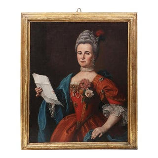 18th Century Swedish School Portrait of a Noble Women For Sale