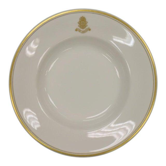 1950s Vintage Shenango Carlyle Hotel Gilt Soup Bowl For Sale