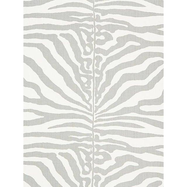 Safari Scalamandre Zebra, Zinc Fabric For Sale - Image 3 of 3