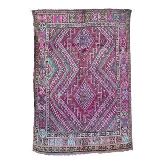 Vintage Moroccan Purple Rug For Sale