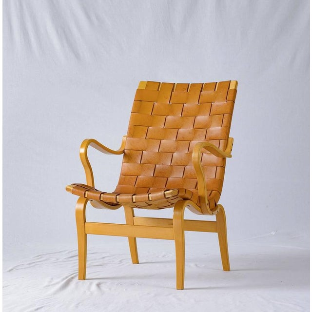 "Bruno Mathsson Leather ""EVA"" Lounge Chair - Image 5 of 10"